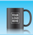 black coffee mug vector image