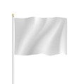 Blank white flag vector image