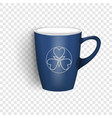 blue cup icon realistic style vector image