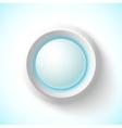 Blue plastic navigation button vector image vector image