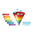 business infographics with six stages sales vector image