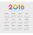 Calendar for 2016 Week Starts Sunday vector image vector image