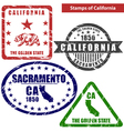 California in stamps vector image