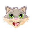 Cat head cartoon symbol icon design