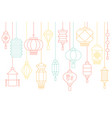 chinese lantern banner for lunar new year vector image vector image