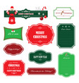 christmas and happy new year frames banners vector image vector image