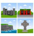 cliffs of moher malahide castle irish pub vector image