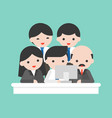 company owner and business team looking at vector image vector image