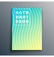 cover template with wavy lines for flyer poster vector image vector image