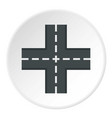 crossing road icon circle vector image