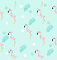 cute flamingo pattern vector image vector image