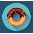 Cute sweet colorful donut icon Flat designed vector image vector image