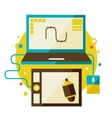 Digital tablet and computer vector image vector image