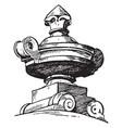 finial modern french vase paris vintage engraving vector image vector image