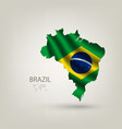 Flag of Brazil as a country vector image