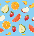 fruits background seamless pattern vector image vector image