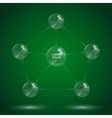 glass sphere infographic 4 vector image vector image