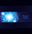 glowing bubbles on a dark blue background vector image