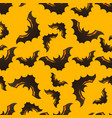 halloween seamless pattern with bats vector image vector image