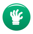 hand fear icon green vector image vector image