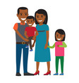 happy parents with little children flat vector image vector image