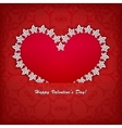 heart label from paper valentines day card vector image vector image