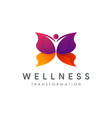 human butterfly transformation wellness logo vector image vector image
