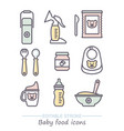 icon set bafood line icons vector image vector image
