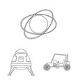 isolated object of mars and space symbol vector image