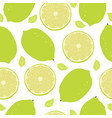 lime pattern vector image vector image