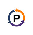 management process letter p vector image vector image