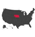 map of usa - nebraska vector image vector image