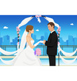 married young couple vector image
