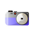 modern digital photo camera front view vector image
