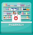 modern interior pharmacy vector image vector image