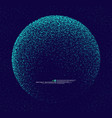 particles constructed world globe vector image