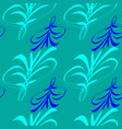 pattern from blue and blue lines and hieroglyphs vector image vector image
