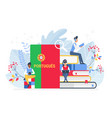 people learning portuguese language vector image vector image