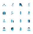 person colorful icons set collection of group vector image vector image