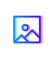 picture blue purple gradient icon image symbol vector image