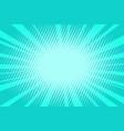 pop art turquoise background vector image