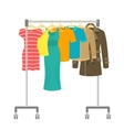 Portable rolling hanger rack with male and female vector image