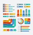 presentation infographics flowchart timeline vector image vector image