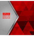 red and gray geometric abstract background vector image
