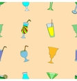 Seamless pattern of cocktails vector image vector image