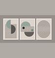 set abstract creative minimalist modern mid vector image