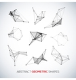 set abstract geometric shapes vector image
