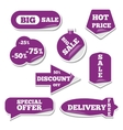 Set of bright labels vector image vector image