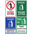 set of posters and sticker signs with a call vector image vector image