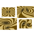 set of spiral background vector image vector image